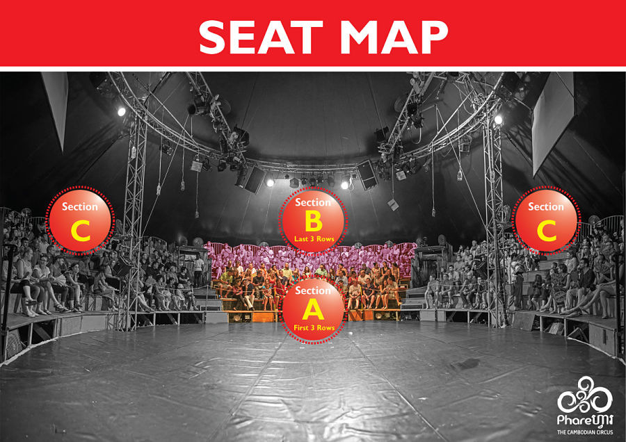Phare, The Cambodian Circus seating map