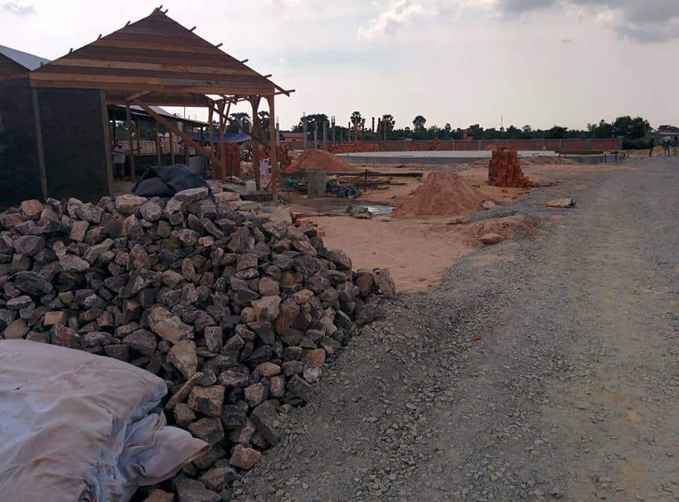 Construction at the new location of Phare, The Cambodian Circus