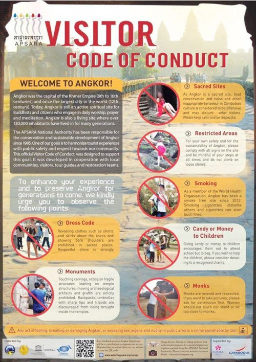 Angkor Visitor Code of Conduct
