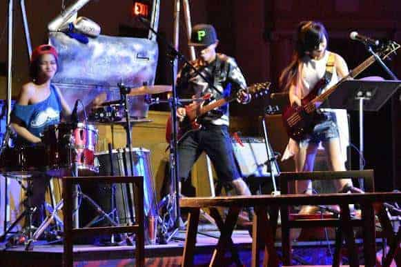 """Phare Circus live music - """"Khmer Metal"""" - rock-and-roll musicians performing"""