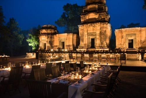 Temple dinner by Amansara