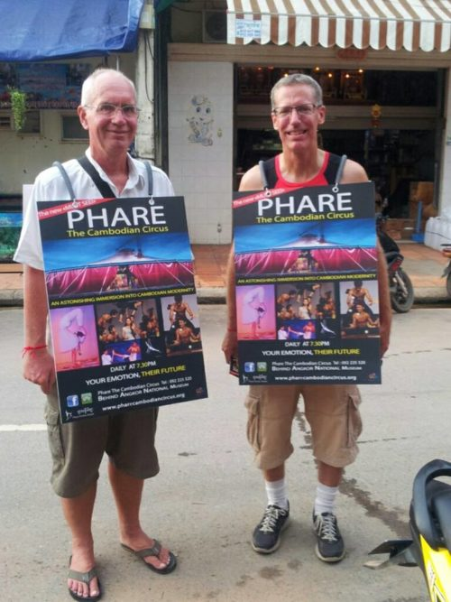 Phare, The Cambodian Circus - sandwich board