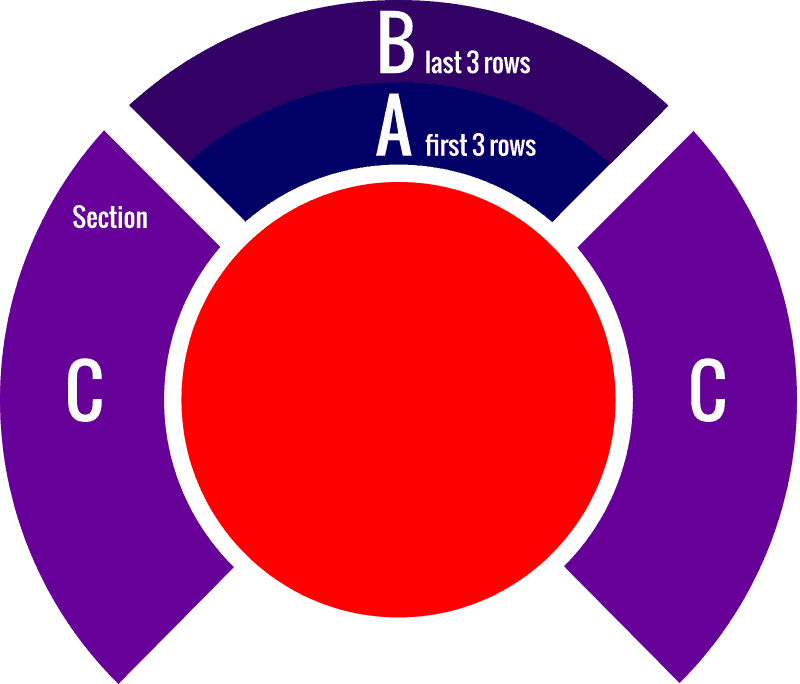 Phare, The Cambodian Circus –Seat Plan