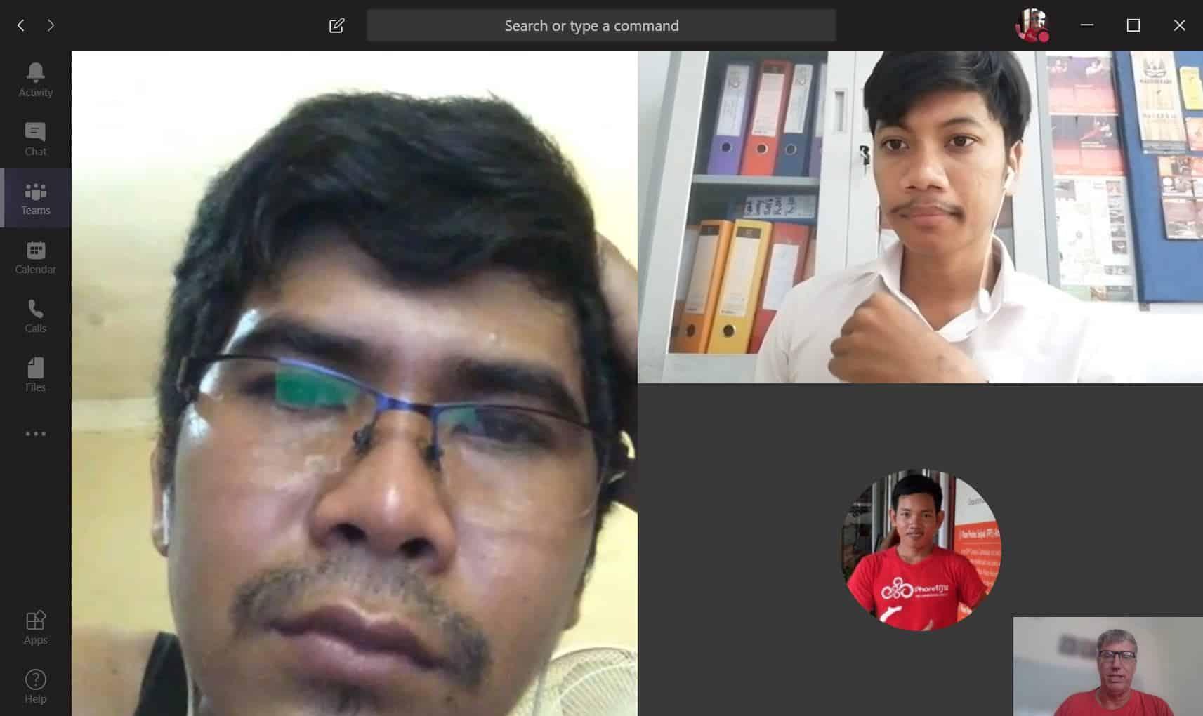 Phare Circus Reimagined - sales team virtual meeting