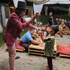 Phare Circus Rising pre-show entertainment putting smiles on faces