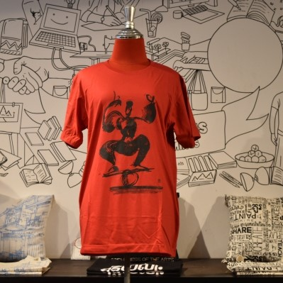 Phare Circus t-shirt - Rolla Bolla - Black on Red