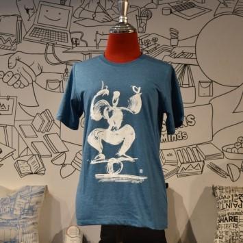 Phare Circus t-shirt - Rolla Bolla White on Blue