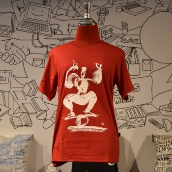 Phare Circus t-shirt - Rolla Bolla - White on Red