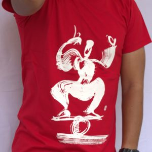 Phare Boutique Shop - t-shirt with of rolla bolla with white print on red