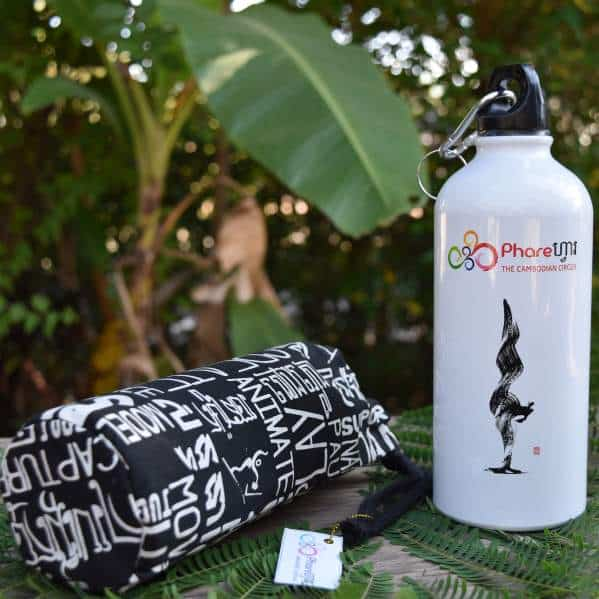 Sports Water Bottle - Phare Circus Handstand - black bag
