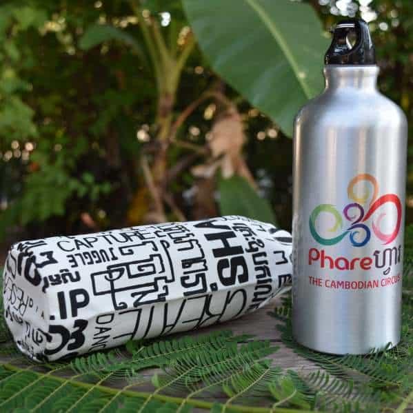 Sports Water Bottle - Phare Circus logo - white bag