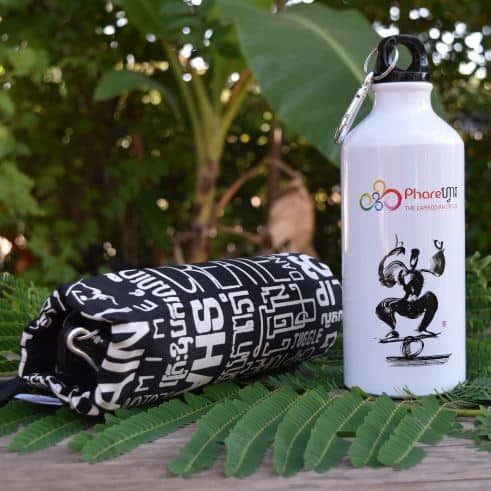 Sports water bottle - Phare Circus rola-bola - black bag