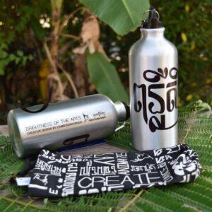 Sports water bottle - Phare Ponleu Selpak - black bag