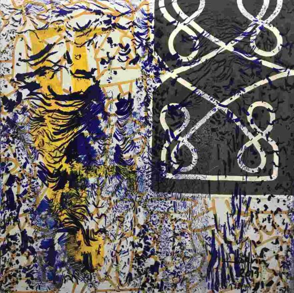 """Live abstract painting from Phare Circus performance """"White Gold"""" title - """"Karma"""""""