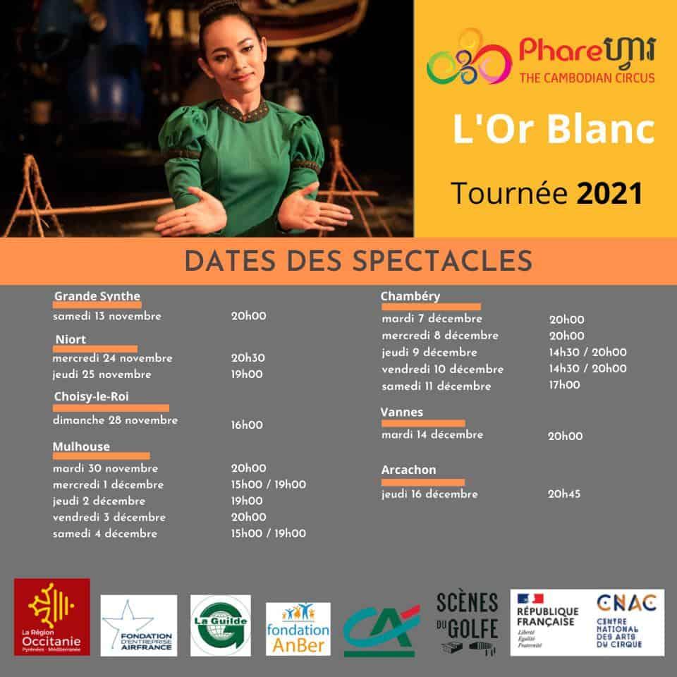 Phare Circus Or Blanc France tour 2021